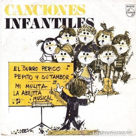 CANCIONES INFANTILES - EL BURRO PERICO +3 - EP PHILIPS 1969 PROMOCIONAL (Música - Discos de Vinilo - EPs - Música Infantil)