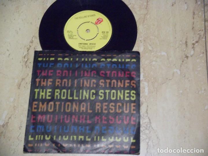 THE ROLLING STONES - EMOTIONAL RESCUE - SN - EDICION INGLESA DEL AÑO 1980. (Música - Discos - Singles Vinilo - Pop - Rock - Extranjero de los 70)