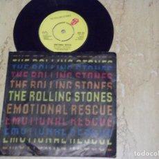 Discos de vinilo: THE ROLLING STONES - EMOTIONAL RESCUE - SN - EDICION INGLESA DEL AÑO 1980.. Lote 132200602