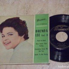 Discos de vinilo: BRENDA LEE HEART IN HAND+3- EDICION ESPAÑOLA-BRUNSWICK-1962-. Lote 132204614