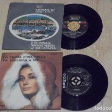 Discos de vinilo: LOTE-DOS SINGLES- I COMBOS–LA PRIMA COSA BELLA / PÀ DIGLIELO A MÀ / + GENE PITNEY – E SE DOMANI +1. Lote 132209254