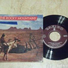 Discos de vinilo: LEN ELLIS - THE ROCKY MOUNTAINS -THE SEARCHER +3 ZAFIRO ESPAÑA 1959-. Lote 132210206