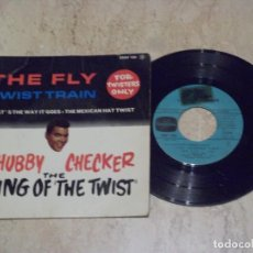Discos de vinilo: CHUBBY CHECKER – THE FLY - TWIST TRAIN - FOR TWISTERS ONLY- COLUMBIA – ESDF 1391-FRANCE-1962. Lote 132210614