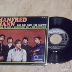 Discos de vinilo: MANFRED MANN - HA HA SAID THE CLOWN, FEELING SO GOOD,SUPERSTITIOUS GUY, BOX OFFICE DRAW - EP ESPAÑA. Lote 132211118