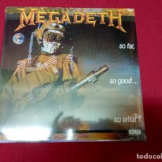Discos de vinilo: MEGADETH - SO FAR, SO GOOD...SO WHAT. NUEVO. Lote 132215850