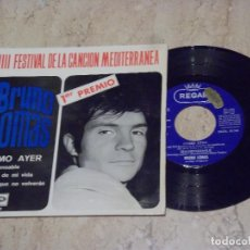 Discos de vinilo: BRUNO LOMAS / COMO AYER / + 3 EXCELENTE. Lote 132269474