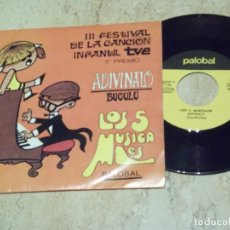 Discos de vinilo: LOS 5 MUSICALES -ADIVINALO / BUGULU / -PALOBAL 1969-EXCELENTE. Lote 171779875