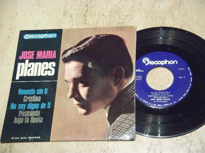 JOSE MARÍA PLANES: VENECIA SIN TÍ / +3 DISCOPHON 1965 - EXCELENTE (Música - Discos de Vinilo - EPs - Grupos Españoles 50 y 60)