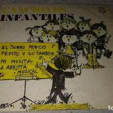 Discos de vinilo: BURRO PERICO-PEPITO TAMBOR-MULITA-ABEJITA MUSICAL. Lote 132304066