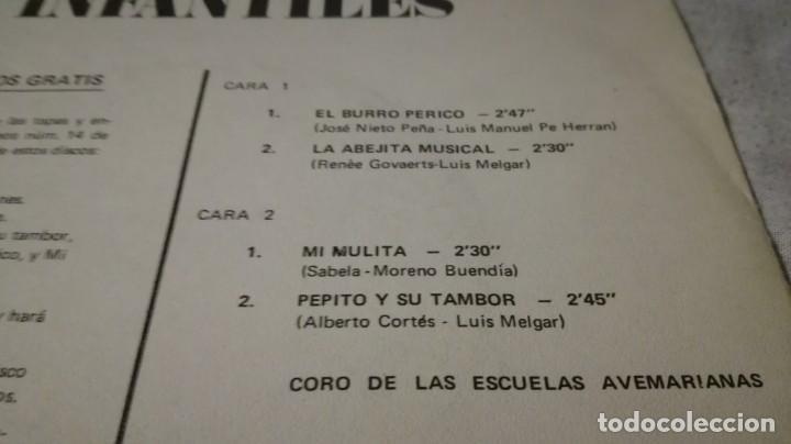 Discos de vinilo: burro perico-pepito tambor-mulita-abejita musical - Foto 3 - 132304066