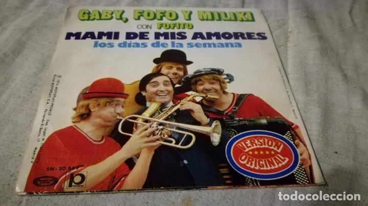 GABI FOFO MILIKI CON FOFITO-MAMI DE MIS AMORES-DIAS SEMANA (Música - Discos de Vinilo - EPs - Música Infantil)