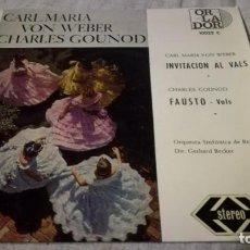 Discos de vinilo: INVITACION AL VALS-FAUSTO-WEBER-GOLINOD-SINFONICA BERLINCLASICOS/ PI22. Lote 132306350