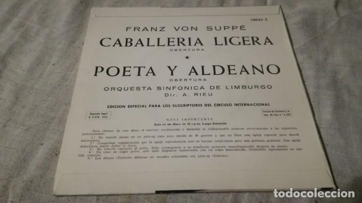 Discos de vinilo: caballeria ligera-poeta y aldeano-franz vo suppe-sinfonica limburgoclasicos/ pi22 - Foto 2 - 132306506