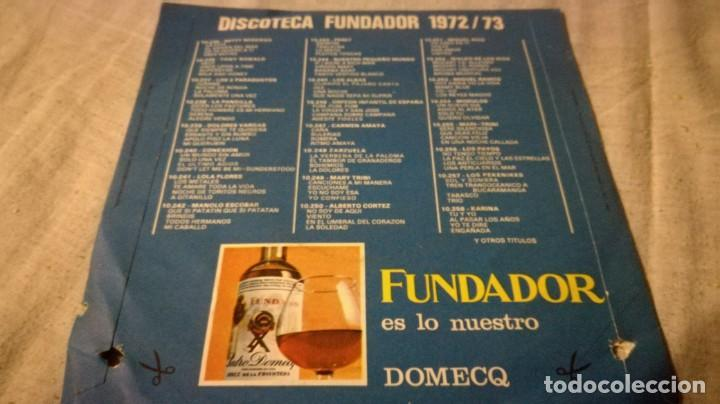 Discos de vinilo: disco sorpresa fundador 1972/73 - 10236publicidad/ pi22 - Foto 2 - 132308398
