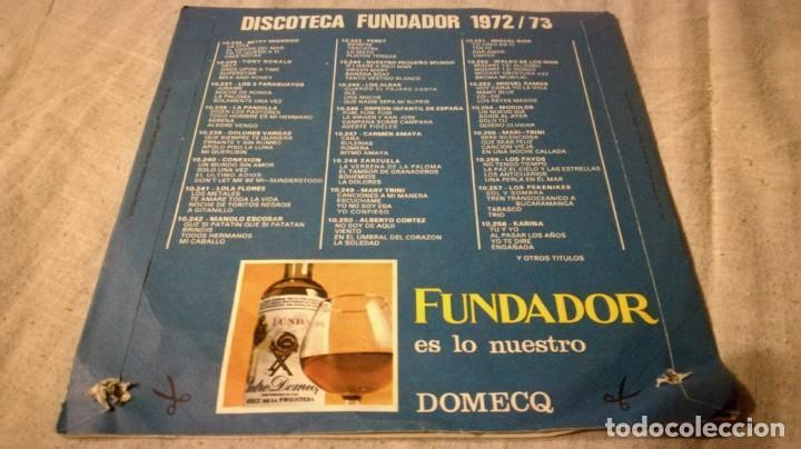 Discos de vinilo: disco sorpresa fundador 1972/73 - 10257publicidad/ pi22 - Foto 2 - 132308458