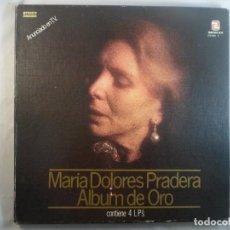 Discos de vinilo: MARIA DOLORES PRADERA. ALBUM DE ORO. ESTUCHE CON 4 LP´S. Lote 194578738
