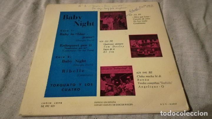 Discos de vinilo: torquato y los cuatro-baby night-philips/ pi22 - Foto 2 - 132327990