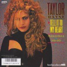 Discos de vinilo: OFERTA SINGLE 7'' JAPON TAYLOR DAYNE - TELL IT TO MY HEART. Lote 132328630