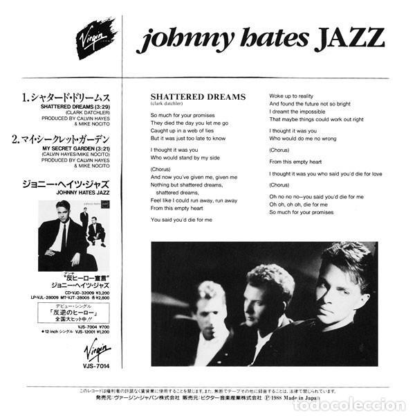 Discos de vinilo: oferta Johnny Hates Jazz - Shattered Dreams - single Japon - Foto 3 - 132328986