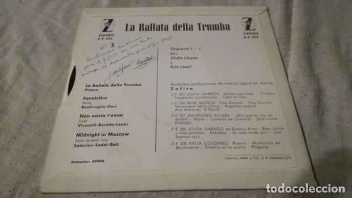 Discos de vinilo: la ballata della tromba-orquesta l + l -giuliano libano-ezio leoni-zafiro / pi22 - Foto 2 - 173173147