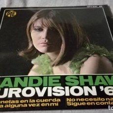 Discos de vinilo: SANDIE SHAW EUROVISION 67-HISPAVOX/ PI22. Lote 132330082
