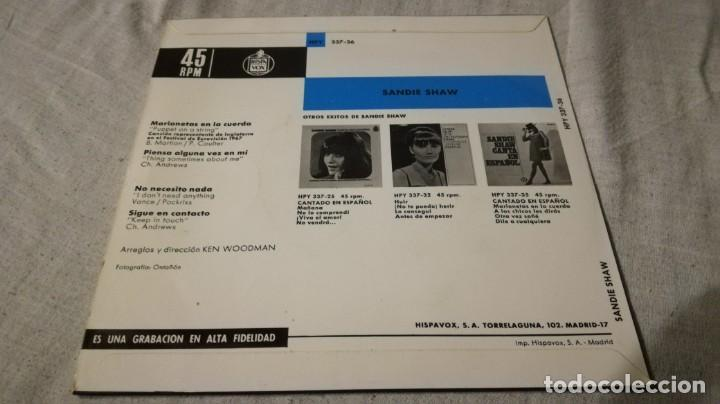 Discos de vinilo: sandie shaw eurovision 67-hispavox/ pi22 - Foto 2 - 132330082
