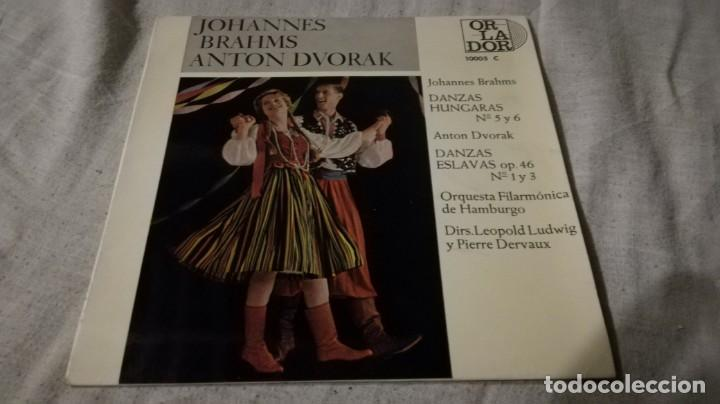 JOHANNES BRAHNS ANTON DVORAK-DANZAS HUNGARAS ESLAVAS-FILARMONICA HAMBURGO/ PI22 (Música - Discos de Vinilo - EPs - Música Infantil)