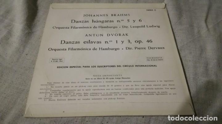 Discos de vinilo: johannes brahns anton dvorak-danzas hungaras eslavas-filarmonica hamburgo/ pi22 - Foto 2 - 132331058