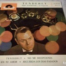 Discos de vinilo: TENDERLY-BERT KAEMPFERT Y SU ORQUESTA-DOLYDOR/ PI22. Lote 132331454