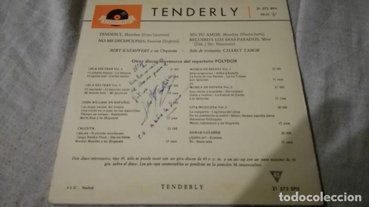 Discos de vinilo: tenderly-bert kaempfert y su orquesta-dolydor/ pi22 - Foto 2 - 132331454