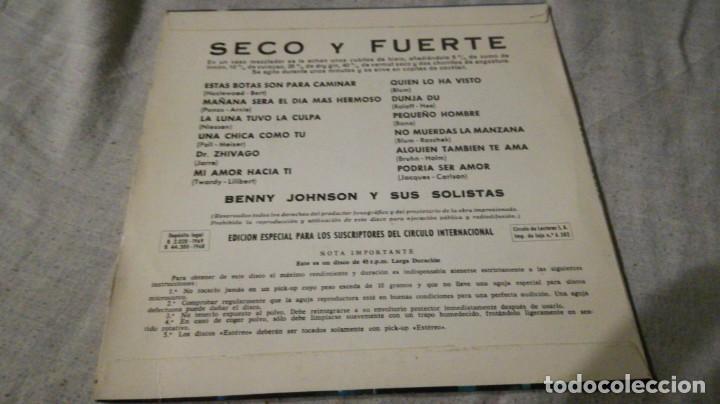 Discos de vinilo: SECO Y FUERTE-BENNY JOHNSON Y SUS SOLISTAS/ pi22 - Foto 2 - 132331562