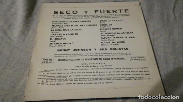 Discos de vinilo: SECO Y FUERTE-BENNY JOHNSON Y SUS SOLISTAS/ pi22 - Foto 3 - 132331562