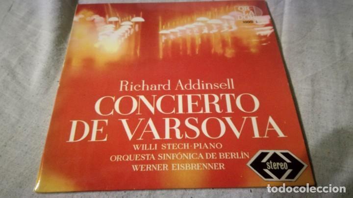 CONCIERTO DE VARSOVIA-RICHARD ADDINSELL-SINFONICA BERLIN/ PI22 (Música - Discos de Vinilo - EPs - Música Infantil)