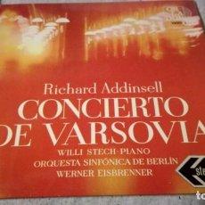 Discos de vinilo: CONCIERTO DE VARSOVIA-RICHARD ADDINSELL-SINFONICA BERLIN/ PI22. Lote 132331790