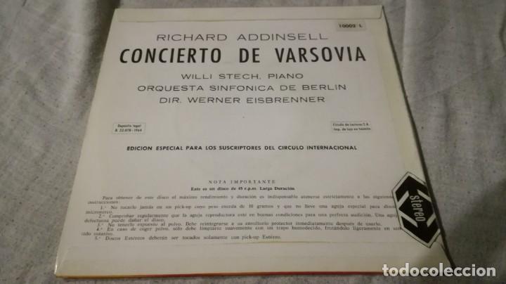 Discos de vinilo: CONCIERTO DE VARSOVIA-RICHARD ADDINSELL-SINFONICA BERLIN/ pi22 - Foto 2 - 132331790