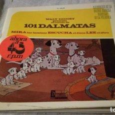 Discos de vinilo: 101 DALMATAS-WALT DISNEY-HISPAVOX-CON LAMINAS/ PI22. Lote 132331914