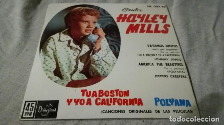 HAYLEY MILLS-TU A BOSTON Y YO A CALIFORNIA-POLYANA-ORIGINALES PELICULAS-DISNEYLAND/ PI22 (Música - Discos de Vinilo - EPs - Música Infantil)