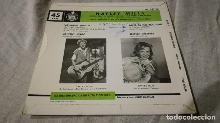 Discos de vinilo: hayley mills-tu a boston y yo a california-polyana-originales peliculas-disneyland/ pi22 - Foto 2 - 132332382
