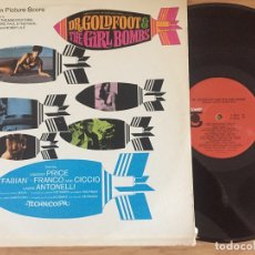 Discos de vinilo: BSO DR. GOLDFOOT AND THE BIKINI GIRL BOMBS 1965? USA. Lote 131969486