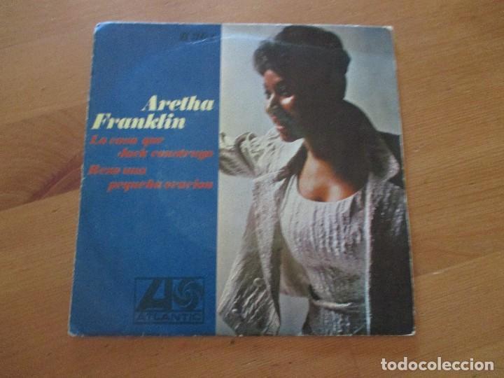 ARETHA FRANKLIN LA CASA QUE JACK COSTRUYÓ/ REZO UNA PEQUEÑA ORACIÓN ATLANTIC HISPAVOX 1968 (Música - Discos - Singles Vinilo - Funk, Soul y Black Music)