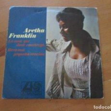 Discos de vinilo: ARETHA FRANKLIN LA CASA QUE JACK COSTRUYÓ/ REZO UNA PEQUEÑA ORACIÓN ATLANTIC HISPAVOX 1968. Lote 132340302