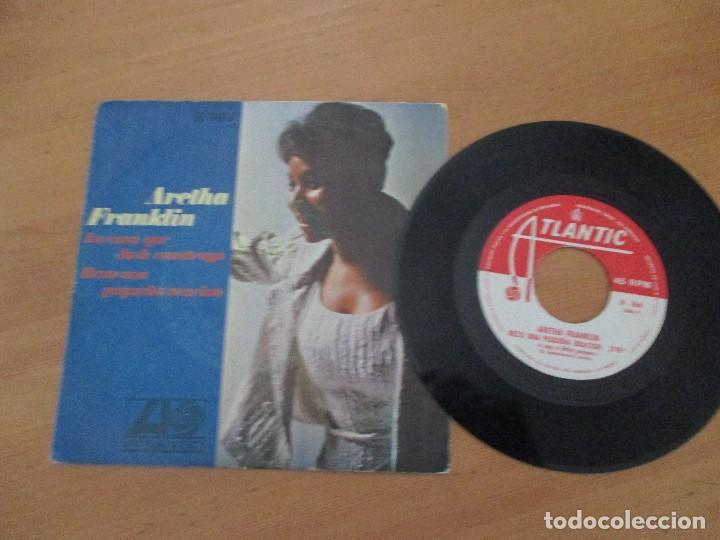 Discos de vinilo: Aretha Franklin La casa que Jack costruyó/ Rezo una pequeña oración ATLANTIC HISPAVOX 1968 - Foto 3 - 132340302