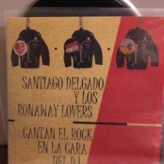 Discos de vinilo: SANTIAGO DELGADO Y LOS RUNAWAY LOVERS-CANTAN EL ROCK EN LA CARA DEL DJ-2007-ENCARTE-NUEVO. Lote 132347469