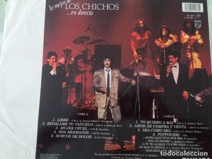 Discos de vinilo: Ter lo mejor de los Chichos.. en directo perfecto lp todos sus exitos - Foto 2 - 132352686
