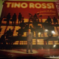 Discos de vinilo: TINO ROSSI ?– TINO ROSSI AU CASINO DE PARIS.1983. 2 LPS. Lote 132355686