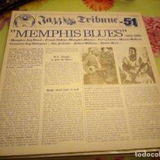 Discos de vinilo: MEMPHIS BLUES (1928 - 1930) JAZZ TRIBUNE NO. 51.1984. 2 LPS. Lote 132411654