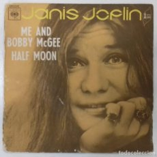 Discos de vinilo: JANIS JOPLIN - ME AND BOBBY MCGEE / HALF MOON - SG - ED FRANCESA 1970. Lote 132413066