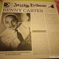Discos de vinilo: JAZZ TRIBUNE BENNY CARTER.1928-1952. Nº 4 . 1979, 2LPS.. Lote 132413546