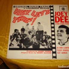 Discos de vinilo: JOEY DEE AND THE STARLITERS. HEY, LET´S TWIST ¡ ROULETTE RECORDS. EDIC. U.S.A. Lote 132417858