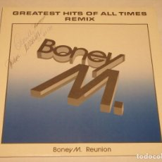 Discos de vinilo: BONEY M. REUNION '88 ( GREATEST HITS OF ALL TIMES REMIX ) 1988-GERMANY LP33 ARIOLA. Lote 132423610